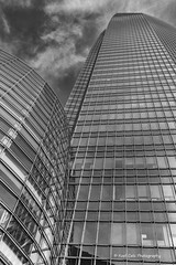 Made of Steel and Glass (Kool Cats Photography over 10 Million Views) Tags: sky structure architecture artistic abstract oklahoma oklahomacity outdoor blackandwhite bw building steel windows skyscraper tall canoneos6d photography patterns lines clouds