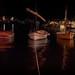 Puerto en la noche