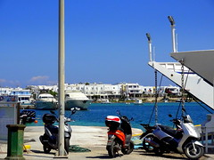 Antiparos Port (dimaruss34) Tags: newyork brooklyn dmitriyfomenko image sky greece antiparos aegeansee water boat port bikes ferry buildings boats post pier