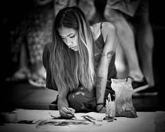 street artist (gro57074@bigpond.net.au) Tags: f14 105mmf14 artseries sigma d850 nikon woman monochrome monotone mono bw blackwhite 2018 december pittstreetmall cbd sydney candidportrait portrait candidstreet candid street streetartist artist art absoluteblackandwhite