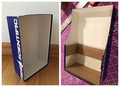 1 of 5. Making playscale cabinet (Foxy Belle) Tags: doll furniture make cabinet kitchen old fashioned primitive cardboard box ooak recycle shelf diy cheap inexpensive barbie blythe 16 scale playscale how tutorial cottage style