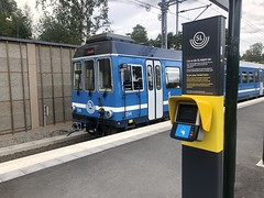 New Ticket Machines on a Railway Platform with an SL X10p Train in the Background (Jonatan Svensson Glad (Josve05a)) Tags: transportation transport vehicle outdoors urban station travel journey traffic train railroad railway transit commuting sweden public nobody rail platform locomotive commute publictransport stockholm tramway noody ticketmachine narrowgauge roslagen urbanrailway tby stockholmcounty tibble storstockholmslokaltrafik stockholmpublictransport roslagsbanan railwaysystem tbymunicipality