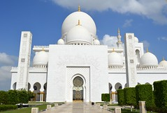 Sheikh Zayed Grand Mosque (Seventh Heaven Photography *) Tags: abu dhabi uae united arab emirates sheik zayed grand mosque nikon d3200 dome white marble