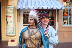 "Tracey and the Indian on Main Street USA at Disneyland • <a style=""font-size:0.8em;"" href=""http://www.flickr.com/photos/28558260@N04/31965557758/"" target=""_blank"">View on Flickr</a>"