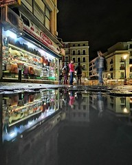 My daily Reflection, today Madrid, reflected on puddle at night... Good night! . . Night mode #HuaweiMate20Pro #Snapseed #HigherIntelligence #CapturedOnHuawei #MásInteligenciaMásPoder (luisonrh) Tags: mobile mobilephotography reflection reflejo huawei huaweimate20 digital documentary