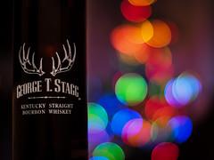 Speedboosted Christmas Tree Whiskey (bredmañ) Tags: whiskey bourbon stagg georgetstagg btac bokeh adapted olympus em1mkii zeiss planar zeiss50mmf14 speedbooster handheld closeup oof
