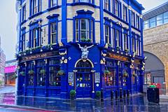 Shipwrights Arms (Croydon Clicker) Tags: pub publichouse bar building listed old ornate blue london pavement wet raining window door