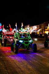 Driving Christmas Lights (wyojones) Tags: wyoming cody christmasparade sheridanavenue snow cold sidebyside sxs offroadvehicle utv rov lights christmasseason parade man driver wyojones