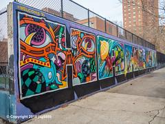 """Welcome to Harlem"" Mural, Graffiti Hall of Fame, East Harlem, New York City (jag9889) Tags: 2018 20181201 bg183 bio eastharlem graffiti graffitiartist graffitihalloffame how harlem manhattan mural muralist nosm ny nyc newyork newyorkcity nicer outdoor painting sign spanishharlem streetart tagging tatscru text themuralkings usa unitedstates unitedstatesofamerica wall welcome jag9889 welcometoharlem"