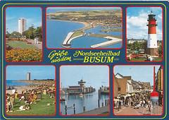 Postkarte / Deutschland (micky the pixel) Tags: postkarte postcard ephemera multiview deutschland germany büsum park leuchtturm strand hafen alleesrasse schleswigholstein