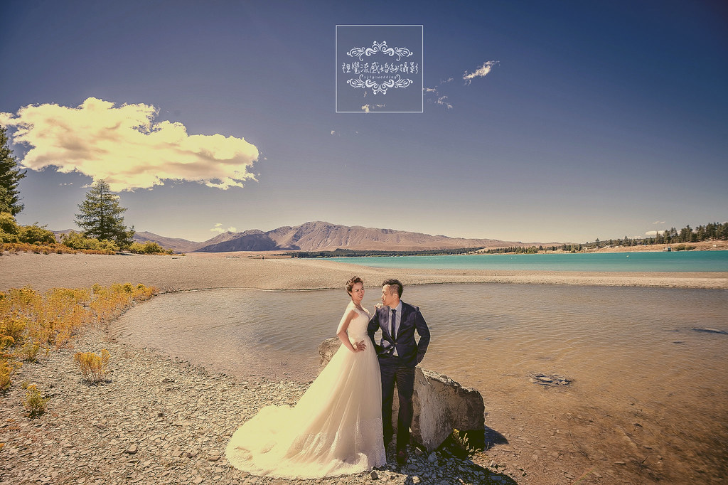 海外婚紗攝影,紐西蘭(新西蘭)NEW ZEALAND婚紗攝影,南島特(蒂)卡波湖Lake Tekapo婚紗,魯冰花海婚紗,南島婚紗攝影