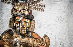 Man in Mayan Dress - Pisté, Yucatán, México (ChrisGoldNY) Tags: friendlychallenges challengefactory challengewinners clothes outfit paint facepaint firstnation nativeamerican native mayan ancient costume men portraits people sonya7rii sonyimages sonyalpha forsale licensing chrisgoldberg chrisgoldny chrisgoldphoto bookcover albumcover humans mexicans mayans yucatan piste pisté yucatán postcards posters life warmth alive greetingcards