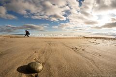 Rocks (Nora Kaszuba) Tags: seascape norakaszuba atlanticocean beach sand sky westerlyrhodeisland watchhillrhodeisland eastbeach rokinon12mm sonya7iii fisheye rocks
