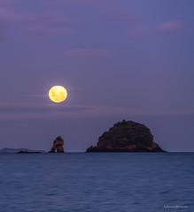 Moonrise Wharekaho (Simpsons Beach) (hakannedjat) Tags: moon fullmoon moonrise sony sonynz sonya7rii