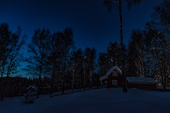Up in the forest (langdon10) Tags: countryside norway rotnes forest nighttime snow stars trail tree winter