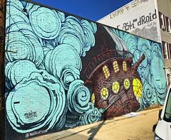 Teaship by Nubian (wiredforlego) Tags: graffiti mural streetart urbanart aerosolart publicart williamsburg brooklyn newyork nyc ny nubian