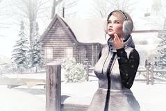 Watching the Snowfall (desiredarkrose) Tags: dahlia snow unitedcolors winter secondlifefashion secondlifestyle secondlife secondlifephotography lelutka greer