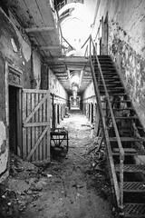 Eastern State Penitentiary (Thomas Hawk) Tags: america easternstatepenitentiary pennsylvania philadelphia philly usa unitedstates unitedstatesofamerica abandoned bw jail penitentiary prison stairs us fav10 fav25 fav50 fav100