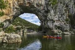 Pont d'Arc (JLM62380) Tags: water river rock canoe france ardeche vallonpontdarc eau paysage rivière pierre montagne bois