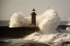 Stormy sea in the Felgueiras lighthouse due to the effects of the storm Bruno, in Porto. (eduardovales) Tags: nikonflickraward porto portugal foz ondas mar waves sea