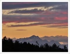 Säntisblick (Norbert Kaiser) Tags: schweiz switzerland berge mountains säntis alpstein alpen alps sunset sonnenuntergang himmel wolken sky clouds dämmerung abendlicht abend landscape landschaft natur nature