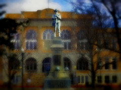 the sentry (boriches) Tags: statue sentry courthouse bentonville arkansas ozarks