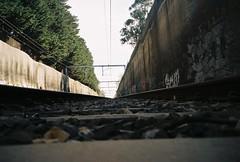 (homesickATLien) Tags: 35mm film art kodak expired mjuiii olympus analog melbourne victoria australia expression tracks light shadow darkness