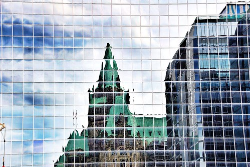 Ottawa  - Ontario -  Canada ~ Confederation Building Reflection
