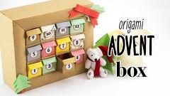 DIY Origami Advent Calendar Box Tutorial - Paper Kawaii (paperkawaii) Tags: origami instructions paperkawaii papercraft diy how video youtube tutorial
