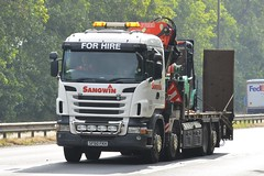 SF60 FKH (panmanstan) Tags: scania wagon truck lorry commercial rigid lowloader freight transport haulage vehicle a63 everthorpe yorkshire