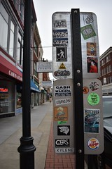 Graffiti sticker art (mcknightpercy) Tags: counterculture outsiderart culture color 228 usps slap stickers sticker eggshell slaps vinyl adhesive streetart street city sign cfyw kraylon jaber xylene timjump 2kool thimp mfk aware indecline dope