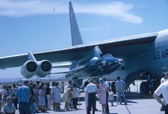 35mm slide image (San Diego Air & Space Museum Archives) Tags: northamericanx15 xplane experimentalflight x15 aviation aircraft airplane bomber rocketplane northamericanaviation naa boeingb52 b52