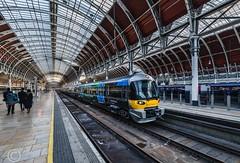 London Nov 2018 049-Edit (Mark Schofield @ JB Schofield) Tags: london paddington railway station rail train commute wrought iron arched burger king bar stall ticket turnstile
