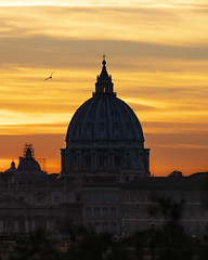 Birds Eye Vatican (JH Images.co.uk) Tags: rome italy sunset bird church cathedral vatican clouds dome hdr dri