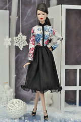 """Incognito Elsa Lin in fashions from """"Winter Queen"""" collection (elenpriv) Tags: incognito elsa lin fashionroyalty 16fashion 16inch fashion doll integrity toys jasonwu winterqueen collection elenpriv elena peredreeva handmade clothes dollclothes fr16"""