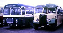 Slide 125-08 (Steve Guess) Tags: sandtoft trolleybus museum lincolnshire england gb uk doncaster bus hdv643e bristol relh ecw coach jtb749 aec regal bluebusservices florence burlingham cumbria classic royalblue