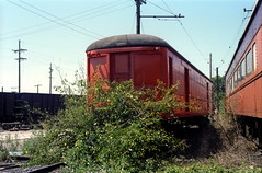South Shore express trailer Michigan City 8-11-79 (jsmatlak) Tags: chicago south shore bend indiana line interurban electric railway nictd train