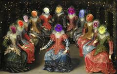 Reunión de damas - Meeting of ladies (COLINA PACO) Tags: ladies damas photoshop photomanipulation fotomanipulación fotomontaje franciscocolina art arte collage