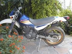 Kawasaki KL250 Super Sherpa (John Steam) Tags: motorcycle motorbike motorrad rent enduro kawasaki super sherpa votsalakia greece griechenland samos insel island rental kl250