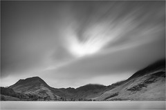 Buttermere (Phil Durkin) Tags: britian buttermere cumbria england fleetwithpike fog haystacks island le lakedistrictnationalpark thelakes tree uk winter cloud daytime longexposure mist nopeople water