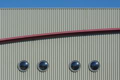 Four round windows and a curve (Jan van der Wolf) Tags: map191229v four 4 vier round windows ramen gevel facade curve lines lijnen lijnenspel interplayoflines playoflines stripes stripe streep