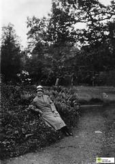 tm_6093 (Tidaholms Museum) Tags: svartvit positiv skog natur kvinna woman nature