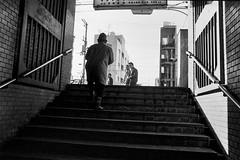 from now on2 718 (soyokazeojisan) Tags: japan osaka city street people bw blackandwhite monochrome analog olympus m1 om1 28mm film trix kodak memories 1970s