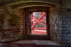 20140615_fort_point_window_001 (petamini_pix) Tags: fortpoint sanfrancisco goldengatebridge window hdr california