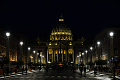 San Pietro (Antonio Ilardo) Tags: italy roma città urban city architecture nikon d610 nightscape sanpietro
