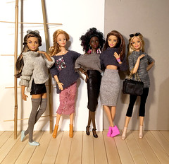 Fashionable_01 (doll_enthusiast) Tags: barbie fashionistas mattel mackie sculpt mbili neysa teresa skateboarder playline karl generation girl gg dolls doll collecting fashion photography made move mtm