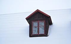 House on a winter background (Karolina Wasylyk) Tags: house window architecture building home roof wooden old wood white windows red exterior sky blue glass wall construction structure estate cottage residential brick isolated new