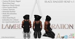 Lambda Corporation Black Bagged Head (Haj'ra Legacy) Tags: lambda corporation rp bdsm bag criminal prisoner mesh rigged gianni signature catwa animation hostage