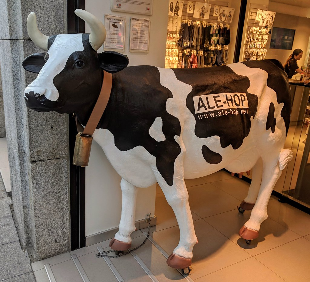 cec4b05d5 Moo (jmaxtours) Tags: moo cow holstein alehop display madrid madridspain  spain cowbell store