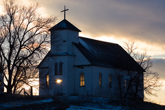 The Light from Beyond (Christopher J May) Tags: church abandoned matheson colorado co light sunset goldenhour stagnes nikond800 nikonafnikkor80200mmf28d